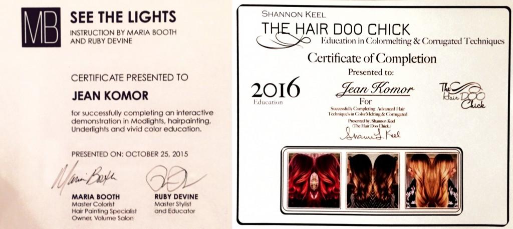 Jean_Komor-hair-certificates